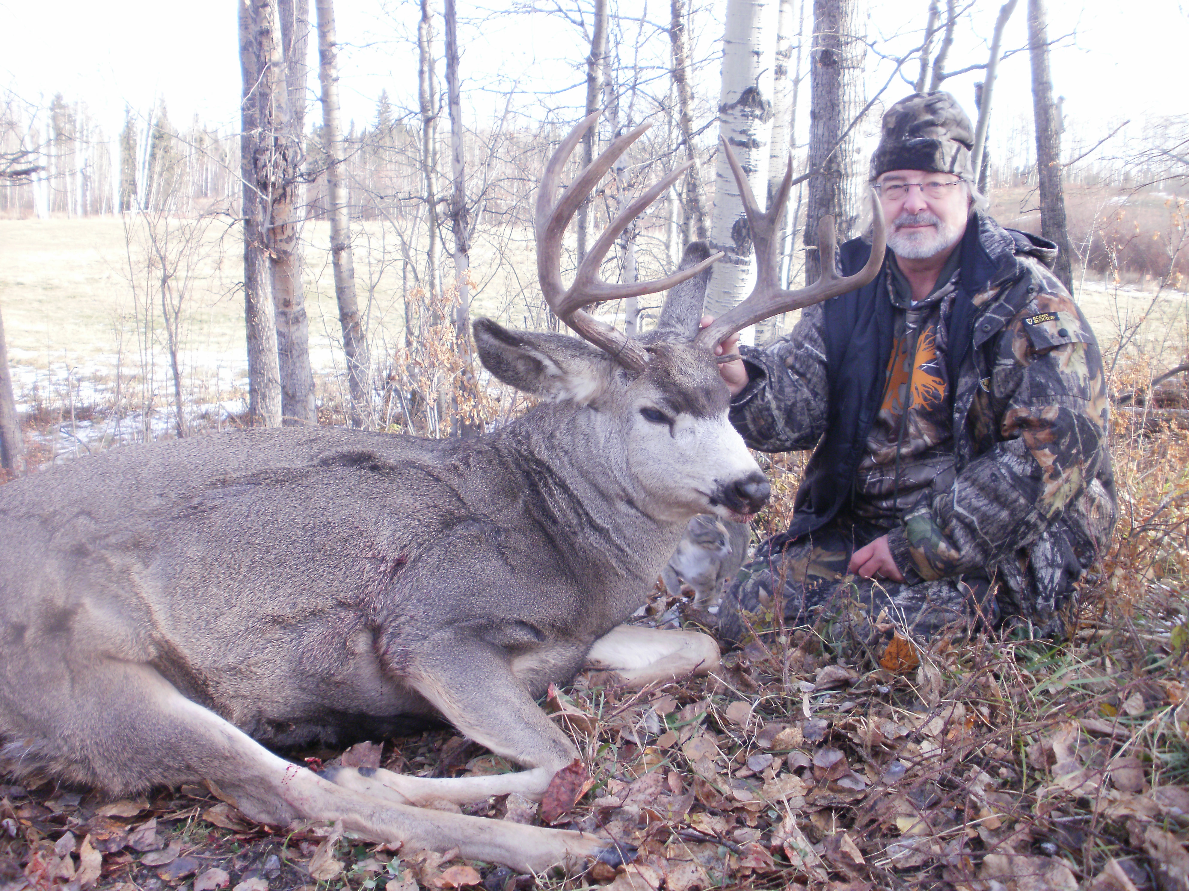 Bill Benigni with his trophy mulie